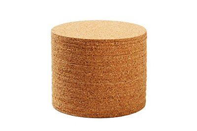 Juvale Round Cork Drink Coasters - Bulk Set of 24 for Water Spot Prevention and - Cork Coasters Bulk