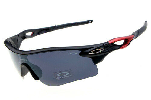 Oakley Sunglasses OO9052 Dark gray/Black/Red/smooth 144/68/42 mm