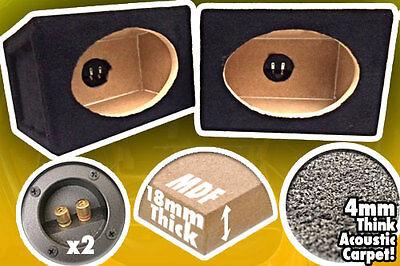 x 2 6x9 BOX SPEAKER ENCLOSURES 4 CAR AUDIO SPEAKERS 6X9