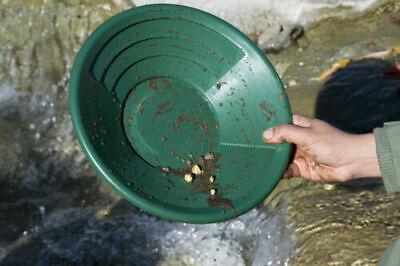 14 Green Gold Pan Panning River Prospecting Mining Riffles Prospectors Choice