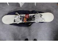 Plamer Snowboard, bindings and travel bag
