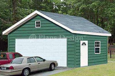 20 x 24 Two Car Garage Plans / Workshop Shade Building Plueprints, Design #52024