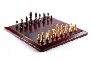 Brand new Chess And Checkers Set Wooden Brown