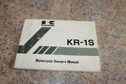 Kawasaki Owners Manual