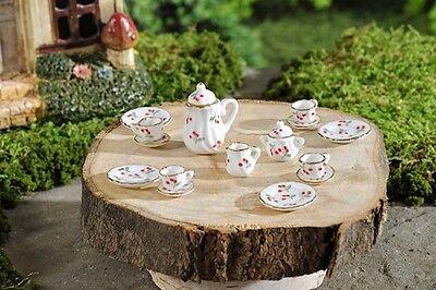 Miniature Dollhouse FAIRY GARDEN ~ Mini Tea Set 17 Pieces ~ NEW