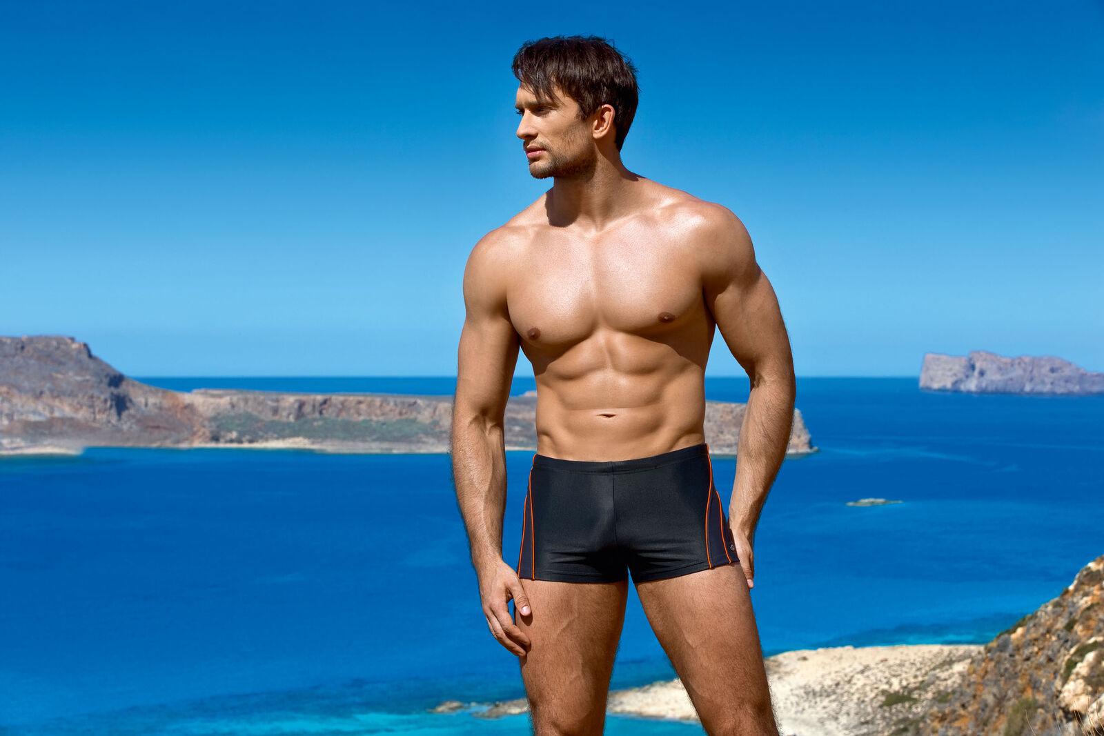 00a9a247a5 Men's fashion swimming trunks boxers swim shorts beach swimwear | eBay