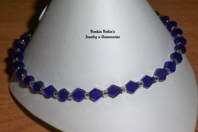 """Cobalt Stretch Anklet Ankle Bracelet - 10"""""""