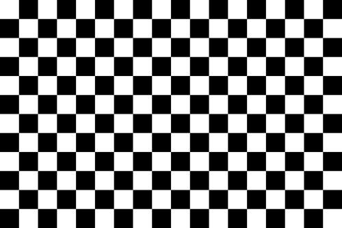 "Checkered Flag Sticker Vinyl Decal Racing Flag 8""X12"" Single Large Sticker"