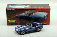 1:18 Greenlight Mecum Sold 1966 Shelby Cobra S/c Azul / W -  - ebay.es