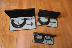 Three Piece micrometer set (IDEAL FOR MACHINIST/MILLWRIGHT)