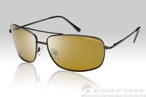 db6aa1bd7ff80 EAGLE EYES NAVIGATOR BLACK POLARIZED SUNGLASSES  14101  NO BOX CASE  New w