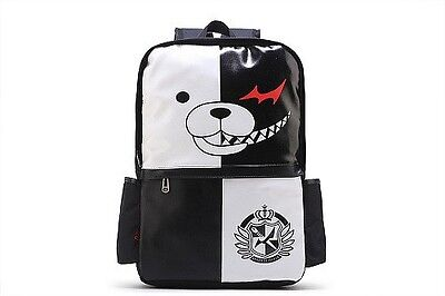 Danganronpa Dangan ronpa White Black Bear Monokuma Backpack School Bag New