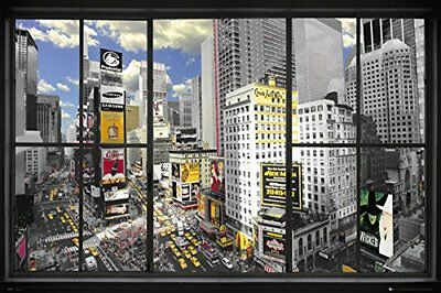(New York Poster - Window To Times Square 36 x 24