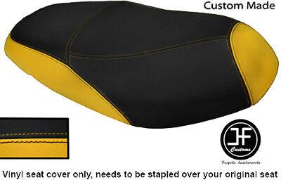 BLACK AND YELLOW VINYL CUSTOM MADE FITS <em>YAMAHA</em> VITY 125 DUAL SEAT COVE