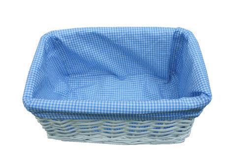 Wicker Storage Baskets Blue Ebay