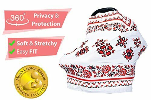 Premium Nursing Breastfeeding Cover | Stretchy and Breathable Carseat Canopy Set