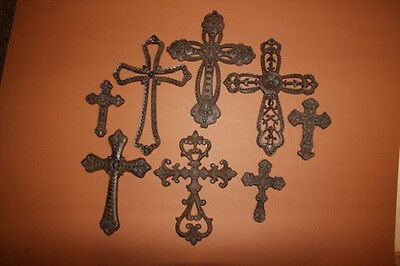(8), Wildwood Collection, Cast Iron, Crosses, Country Decor, Christianity