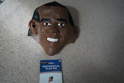 Obama Mask Halloween (Disguise Obama Mask 2008 PRESIDENT vinyl halloween)