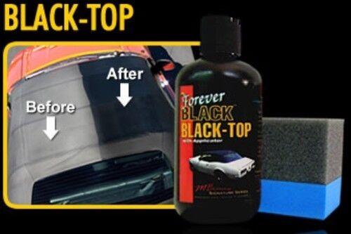 ::FOREVER BLACK Vinyl Soft Top Gel Dye Convertible Bimini