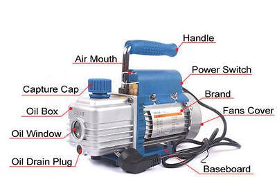 3cfm 150w 2pa Rotary Mini Vane Vacuum Pump For Hvac Ac Air Conditioning 220v
