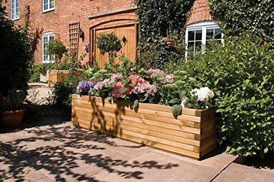 Large Rectangular Planter - Rowlinson Garden Product Outdoor Wood Extra Large Rectangular Patio Planter A059