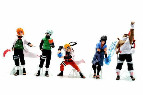 Naruto Sasuke Kakashi Shippuden 5 Pcs Action Figures Set Cake Toppers Toys Gift