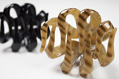 Scunci No-Slip Grip Octopus Clip, Black and Tortoise, 2-Coun