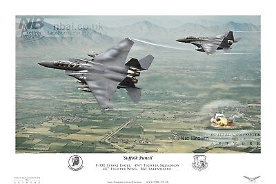 494th Fighter Squadron F15E, RAF Lakenheath Digital Artwork