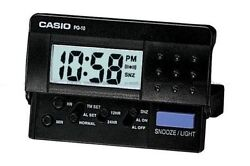 Casio New PQ-10D-1R Small Black LED Digital Travel LCD Display Alarm Clock PQ-10