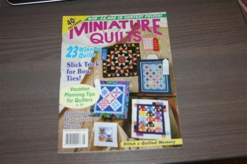 Miniature Quilts Magazine Ebay
