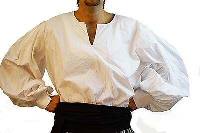 Medieval-LARP-SCA-Reenactment-Role Play-Pirate-Cosplay-SLIT NECK SHIRT-All - Reenactment Kostüm Pirat