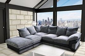 ◄◄LONDON FREE DELIVERY►► ❤❤SALE❤❤ NEW JUMBO CORD 5 SEATER LARGE CORNER SOFA OR 3 2 SEATER SOFA SUITE