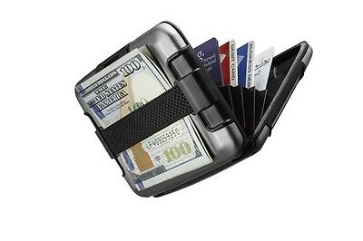 SHARKK Aluminum Waterproof Rugged Wallet w/ Cash Band RFID Protected