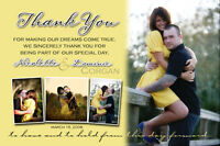 Custom Wedding Save the Dates, Invitations & Thank you cards! $1