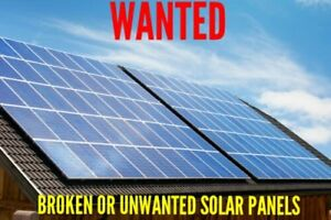 Looking for broken or unwanted Solar Panels