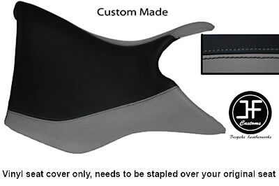 BLACK AND GREY VINYL CUSTOM FOR TRIUMPH TIGER 800 FRONT RIDER SEAT COV