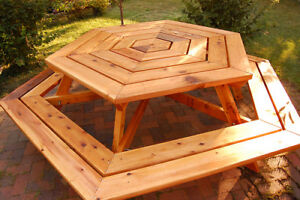 Solid Cedar Wood Table for 8 Persons