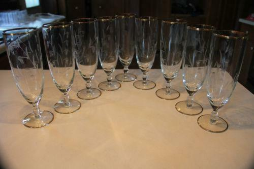 Lenox gold rim glass ebay - Lenox gold rimmed wine glasses ...
