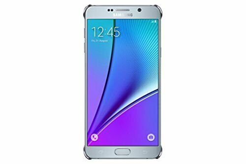 New Samsung Galaxy Note 5 Case Clear Protective Cover -Clear/Silver