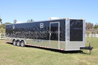 New 2021 8.5 X 32 8.5x32 Enclosed Race Cargo Car Hauler Trailer - Loaded