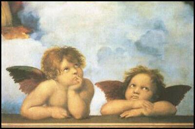 Poster Raffael Die Engel der Sixtina Kunstposter Kunst Wand Tür Deko 61x91
