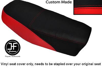 BLACK AND RED AUTOMOTIVE VINYL CUSTOM FITS <em>YAMAHA</em> DT 50 MX DUAL SEAT C