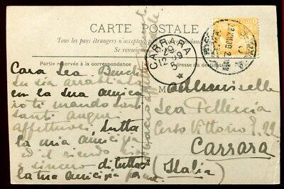 Ägypten Egypt 1905 Photo-Bildpostkarte Folklore nach Italien gelaufen / 12