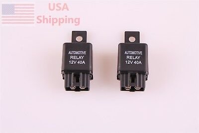 2 Dc 12v 40a Amp Car Van Auto Automotive 4 Pin Spst Alarm Relay