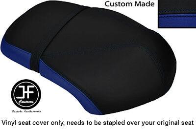 ROYAL BLUE AND BLACK VINYL CUSTOM FITS <em>YAMAHA</em> XF 50 GIGGLE DUAL SEAT C