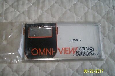 Omni-view Welding Filter Plate Shade 6 New Unopened.