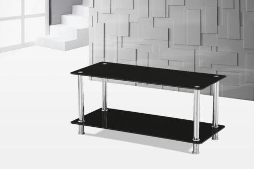 Black Glass And Chrome Coffee Table Ebay: black and chrome coffee table