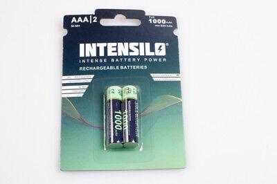 2x INTENSILO AAA micro Akkus 1000mAh für Bosch PLR 15 Laser Entfernungsmesser