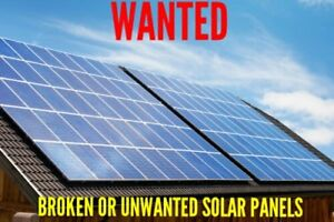 Wanted: broken or unwanted Solar Panels
