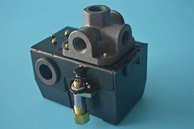 Air Compressor Pressure Switch Control Valve 90-125 Psi 4 Port Heavy Duty 26 Amp